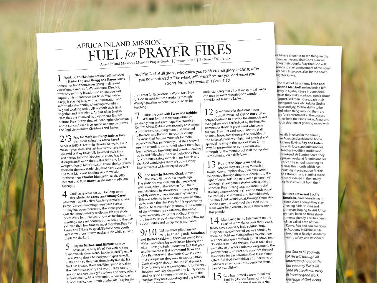 Pray - Africa Inland Mission (USA)